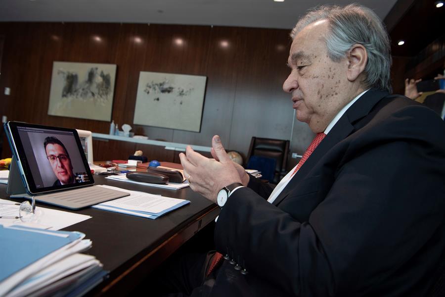 Antonio Guterres habla sobre los migrantes venezolanos