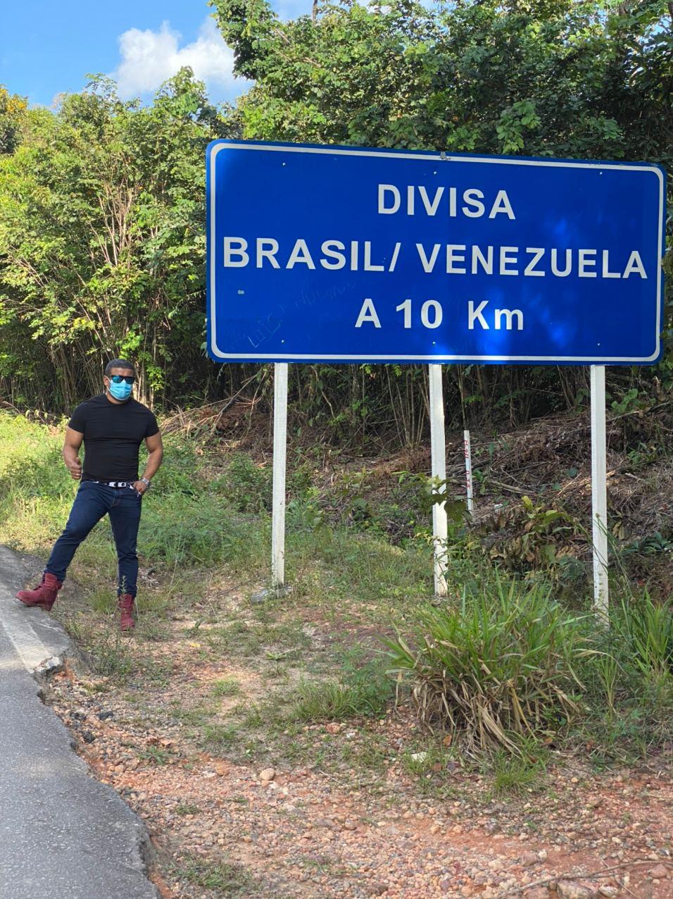 Alberto en la frontera de Venezuela