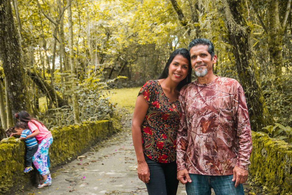 La familia Pérez Carballo durante su estadía en Mérida, Venezuela