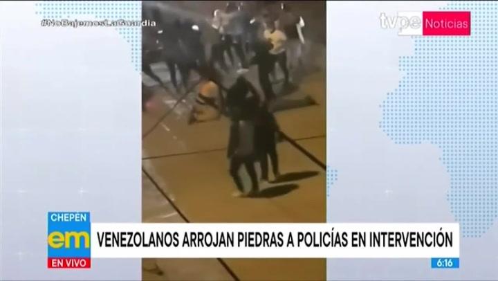 TV Perú, el medio oficial del Estado no escapa de los mensajes xenofóbicos. Foto captura